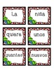 Spanish scrambled sentences: El invierno