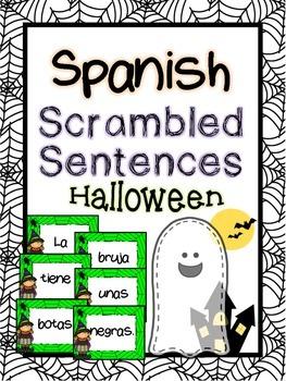 Spanish scrambled sentences: Halloween