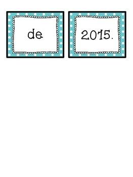 Spanish scrambled sentences: La fecha