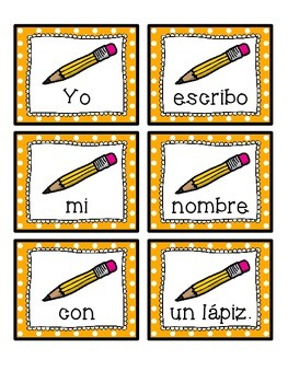 Spanish scrambled sentences: los materiales escolares/la escuela