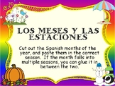 Spanish seasons & months- Cut and paste the months into th