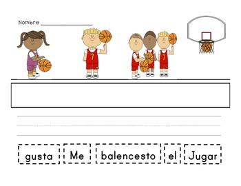 Spanish sentence scrambles