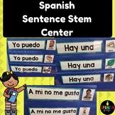 Spanish sentence stem center (Centro de oraciones lectura)