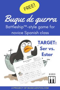 Spanish ser vs. estar Battleship game