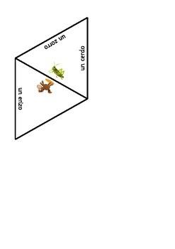 Spanish shape puzzle - animals