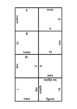 Spanish shape puzzle - numbers to 20