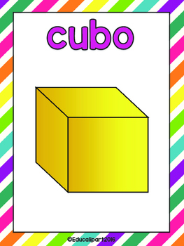 Spanish shapes and colors posters