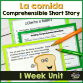 TPRS Spanish short story about food using high frequency v