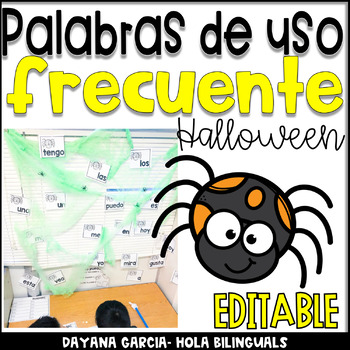 Spanish sight word center Palabras de uso frecuente Halloween