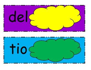 Spanish sight word practice
