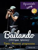 Spanish song: Bailando. Enrique Iglesias. Present progress