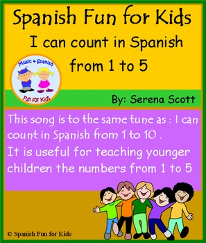 Spanish song: I can count in Spanish from 1 to 5