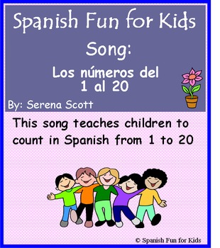 Spanish song: Los números del 1 al 20