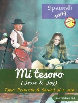 Spanish song: Mi tesoro (Jesse y Joy). Preterite & gerund. Intermediate mid.