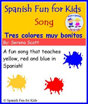Spanish song: Tres colores muy bonitos