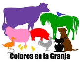 Spanish song cards Colores en la Granja Elementary