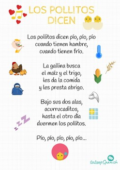 """Spanish song for kids """"Los pollitos dicen"""""""