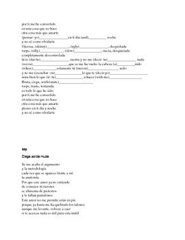 Spanish songs by Shakira: Ciega Sordamuda