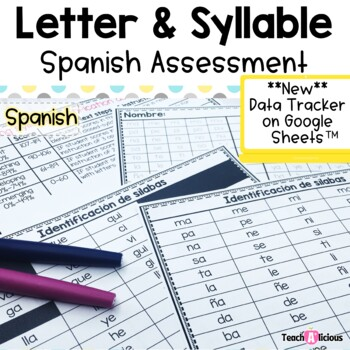 Spanish sound and syllable assessment