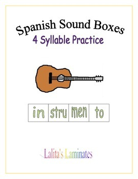 Spanish sound boxes: 4 syllables