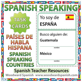 Spanish-speaking Countries - Speaking Task Cards