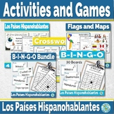 Spanish-speaking Countries (Task cards, maps, games, activ