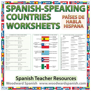 spanish speaking countries worksheets by woodward education tpt. Black Bedroom Furniture Sets. Home Design Ideas