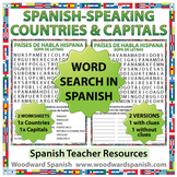 Spanish-speaking Countries and Capitals Word Search