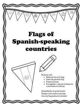 Spanish -speaking Country flag banner