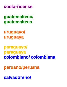Spanish-speaking Nationalities