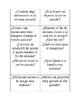 Spanish speaking cards preterit tense/el preterito