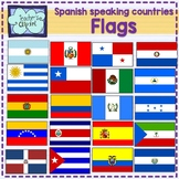 Spanish speaking countries FLAGS Banderas Países hispanoha