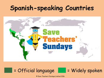 Spanish-speaking countries Lesson plan, PowerPoint and Worksheets (with answers)