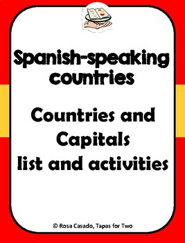 Spanish speaking countries and capitals Los paises hispanos