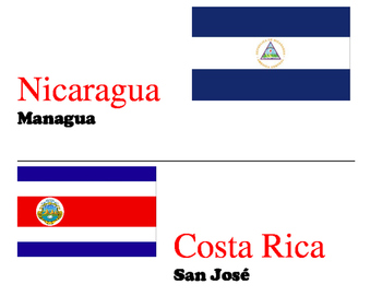 Spanish-speaking countries, capitals and flags