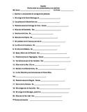 Spanish speaking countries nationalities application quiz