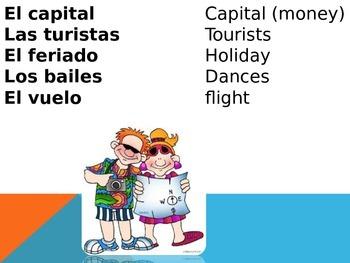 Spanish-speaking countries vocab