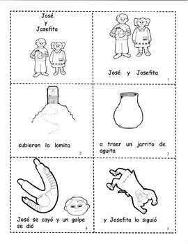 Spanish story/coloring book for kids - Jose y Josefita