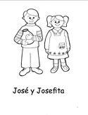 Spanish story/coloring book for kids - Jose y Josefita
