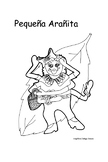 Spanish story/coloring book for kids - Pequeña Arañita