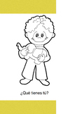 Spanish story/coloring book for kids - Que tienes tú