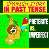 Spanish story in past tense-Preterite vs Imperfect-distance learning