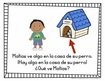 Spanish storybook: ¿Qué ve Matías?