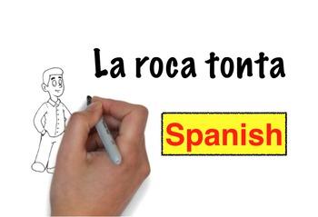 Spanish storytelling: La roca tonta animated video story