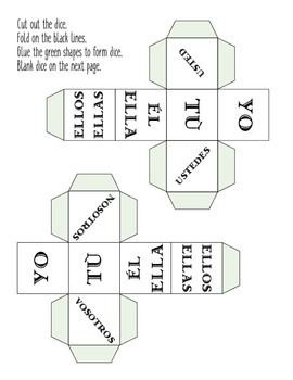 Spanish subject pronoun dice
