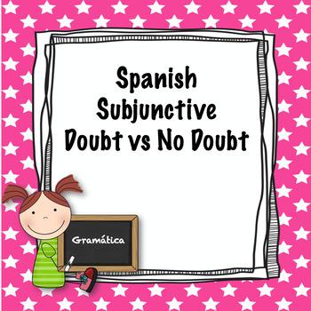 Spanish subjunctive doubt vs no doubt quiz