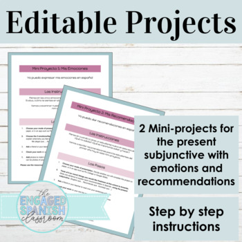 Subjunctive Tense Projects: Subjunctive with Emotions + Recommendations