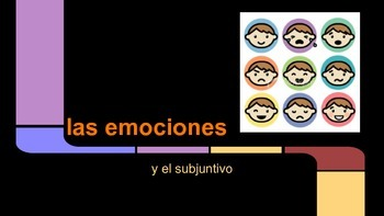 Spanish subjunctive tense with emotions, practice presentation