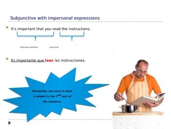 Spanish subjunctive with impersonal expressions notes