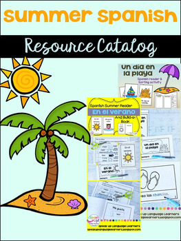 Spanish summer {el verano} Resource Catalog ~ para la clase de español